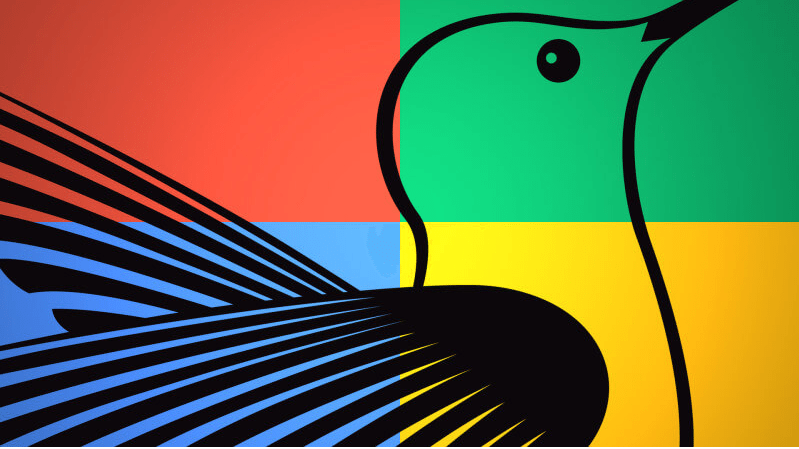 Google  logo of hummingbird search engine platform