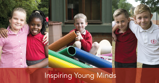 "School governor supported school brochure titles ""Inspiring young minds"""
