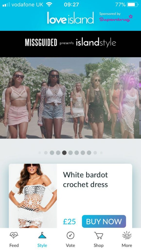Love Island Missguided App