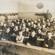 School children sitting in rows