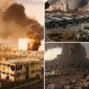 Scenes from Beirut after explosion